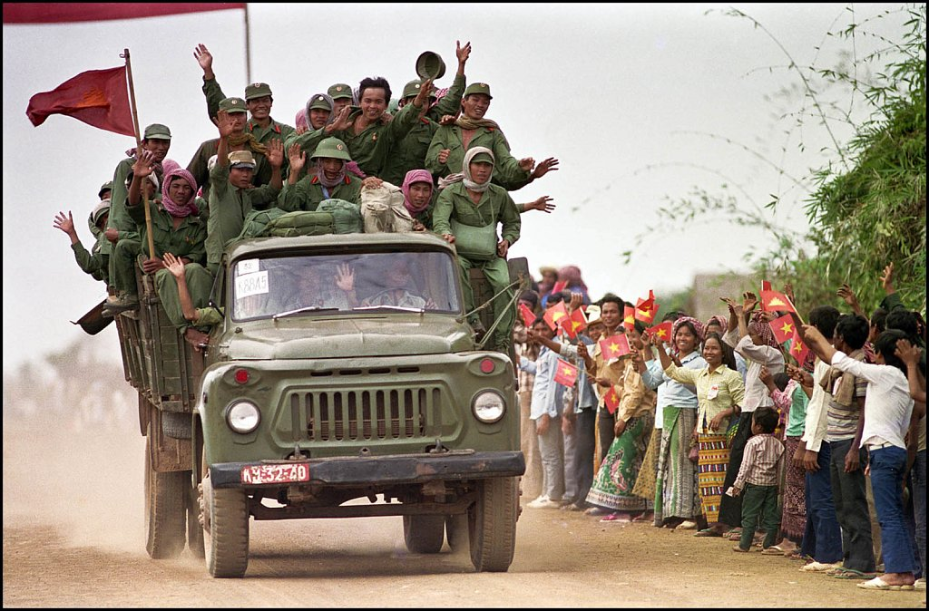 'Troop Withdrawl' Cambodia-Vietnam Border, Cambodia 1988